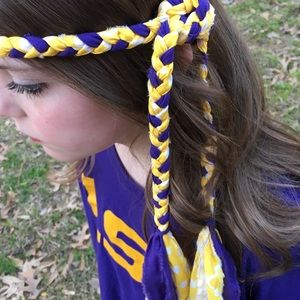 Other - MollyBobBraids Handmade Braided Headband 💜💛💜